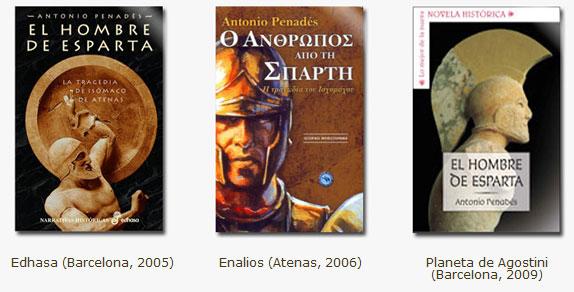 Ediciones de El hombre de Esparta. Antonio Penadés