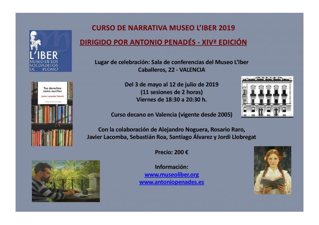 XIVª Edición del Curso de Narrativa del Museo L'Iber